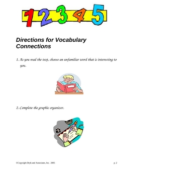 Vocabulary/Context Clues:  Vocabulary Connections