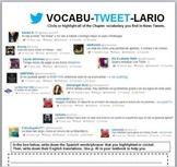 Vocabutweetlario: Realidades 2 Chapter 1B Vocabulary Activity with Twitter