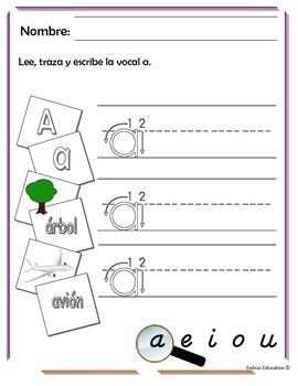 Vocal A en español | vowel A (spanish)
