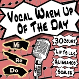 Vocal Warm Up of The Day - Integrating Musical Concepts Into Warm Up Routines
