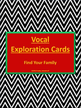 Vocal Exploration Cards - Find Your Family