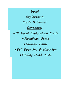 Vocal Exploration Cards and Games