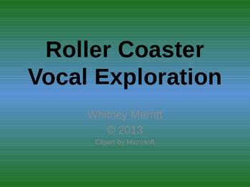 Vocal Exploration - Roller Coaster Visual Aids