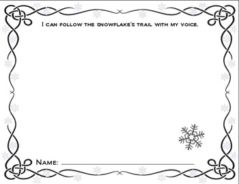 Vocal Exploration Visuals and Worksheet: Winter Theme