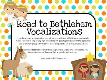 Vocal Exploration/Singing Visual Aids: Road to Bethlehem
