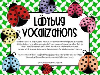 Vocal Exploration/Singing Visual Aids:  Ladybugs
