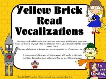 Vocal Exploration/Singing Visual Aids:  Yellow Brick Road