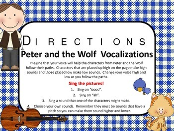 Vocal Explorations / Singing Visual Aids - Peter and the Wolf