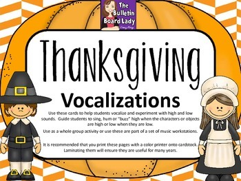 Vocal Explorations / Singing Visual Aids: Thanksgiving