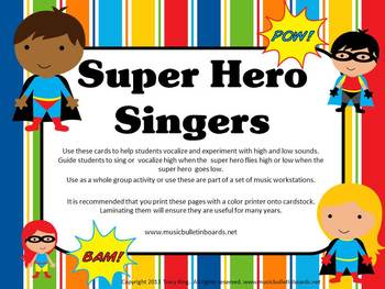 Vocal Explorations/Singing Visual Aids: Superheroes