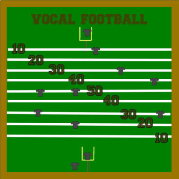 Vocal Football Interactive Singing Incentive Bulletin Board