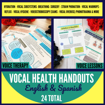 Vocal Health Handouts for Speech Therapy