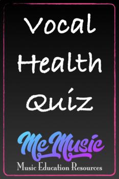 Vocal Health Quiz