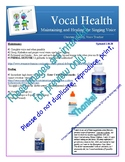 Vocal Health and Healing Your Voice