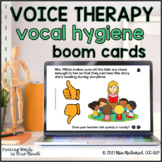 Vocal Hygiene Boom Cards™ for Voice Therapy