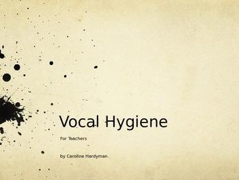 Vocal Hygiene for Teachers *Freebie*