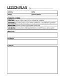 Vocal Music Lesson Plan Template