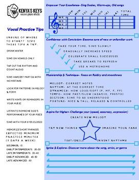 Vocal Practice Chart