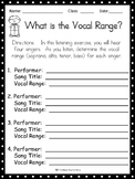 Vocal Range Listening Activity, DISTANCE LEARNING