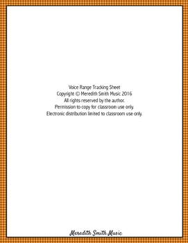 Vocal Range Tracking Sheet