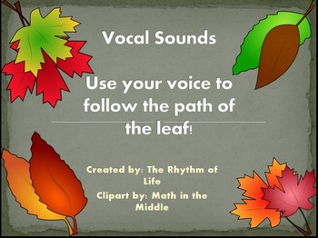 Vocal Sounds and Warmups-Leaves