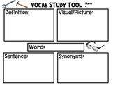 Vocal Study Tool and Test