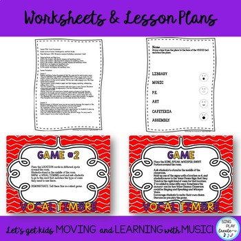 Vocal Timbre Lesson and Games with Song, Posters and Printables