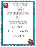 Vocal a - libro 1 y Hojas de Practica