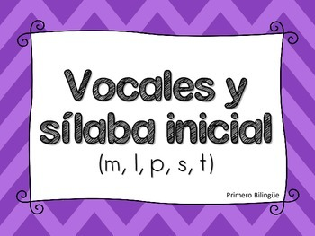 Vocal y Sílaba inicial