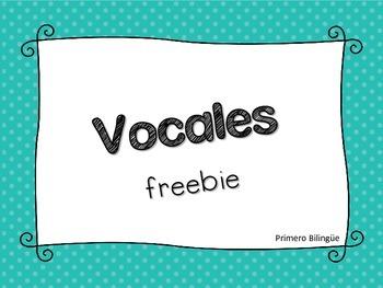 Vocales Freebie