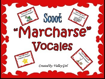 """Vocales Marcharse """"Scoot"""""""