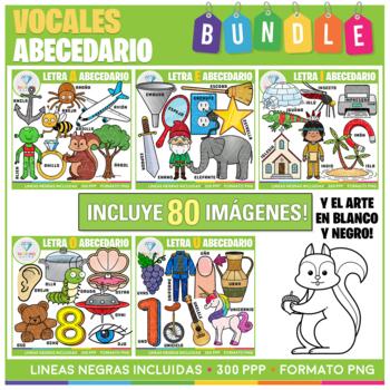Vocales del Alfabeto Clip Art BUNDLE!