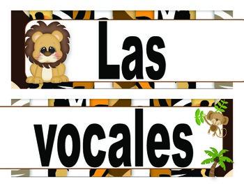 Vocales y abecedario - Motivo  Safari