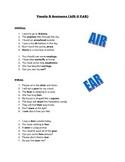 Vocalic AIR & EAR Sentences