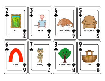 Vocalic AR Articulation Playing Cards