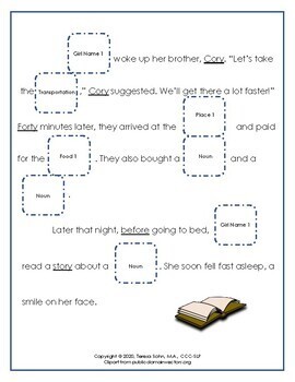 Vocalic OR Mad Libs Articulation Activity