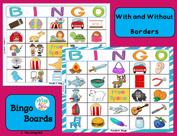 Vocalic R Bingo
