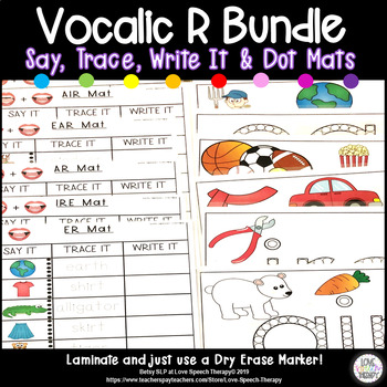 Vocalic R Bundle Mat Activities - ALL with Color and B&W Mats
