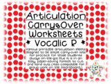Vocalic R Articulation Carryover Practice Bundle