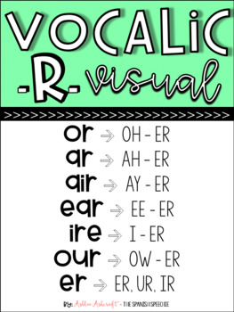 Vocalic R Visual - FREE / English Only