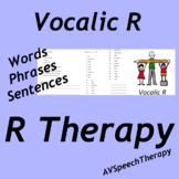 R - Vocalic R Comprehensive