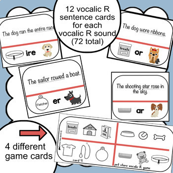 Vocalic R Sentence Game | Speech Therapy | Ear,Air, Ire, Ar, Or, Er