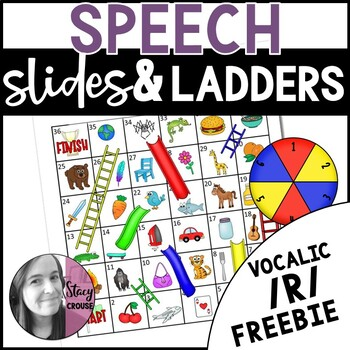 Vocalic R Slides and Ladders Game: An Articulation Practice Game