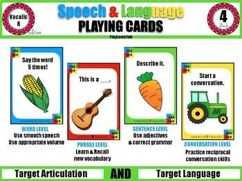 Vocalic R - Speech & Language Playing Cards