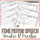 Vocalic R Speech Sound Tracing Activities- No Prep Freebie