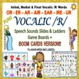 Vocalic /R/ Speech Sounds Slides & Ladders OR, ER, AIR, EA