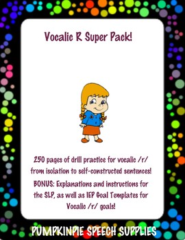 Vocalic R Super Pack - 250 pages