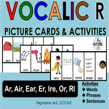 Vocalic R Word Cards: Word, Phrase, Sentence and Conversation Activities
