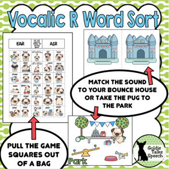 Vocalic R Word Sort | Speech Therapy Game| Articulation