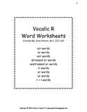 Vocalic R Worksheets